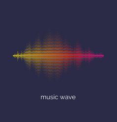 sound wave equalizer on dark vector image