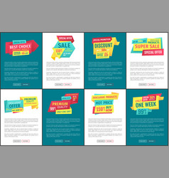 Special promotion posters set vector