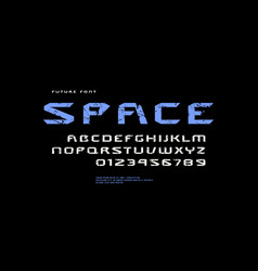 stock extended sans serif font vector image