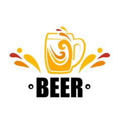 symbol one mug of beer vector image