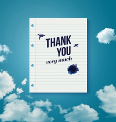 Thank you card for different occasions vector