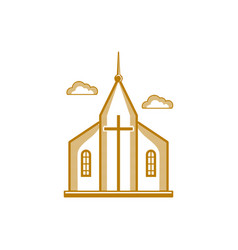 The church of jesus christ vector