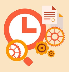 Time study and research tools and systems vector