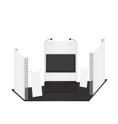 Trade exhibition stand and x-stand for presentatio vector