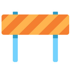 traffic barrier flat icon vector image