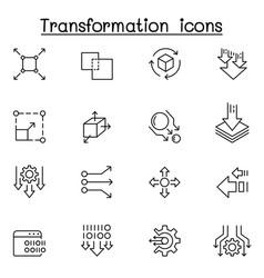 transform edit change scale update icon set vector image