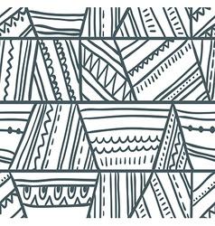 tribal seamless pattern Geometric background vector image