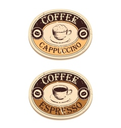 Vintage label coffee vector image