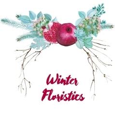 Watercolor Floristic Composition vector image