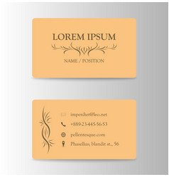 Business card with wooden pattern vector