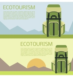 Ecotourism banner vector
