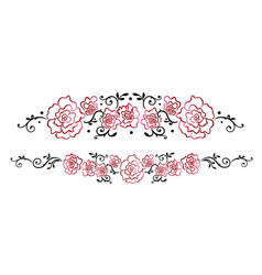 garland with red roses vector image vector image