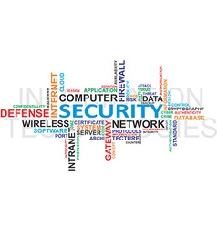 IT security WordCloud vector image