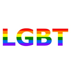 LGBT rainbow flag in color vector image