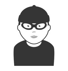 robber thief man icon vector image vector image