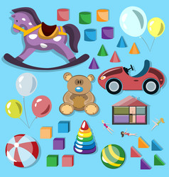 set of children toys vector image