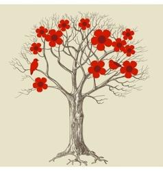 Tree in bloom vector
