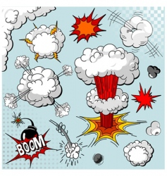 comic book elements vector image vector image