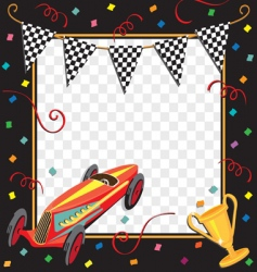 race car party invitation vector image