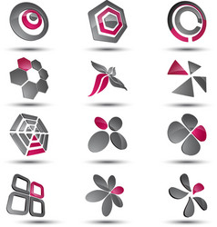 Abstract business icon collection set vector image