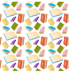 Books reading education seamless pattern vector