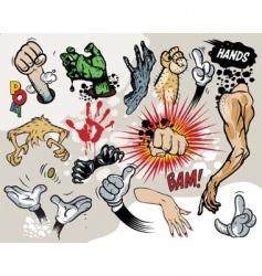 Comic hands vector