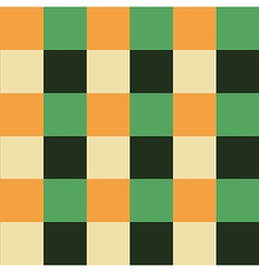 Orange Green Chess Board Background vector image vector image