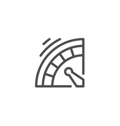 roulette line icon vector image vector image