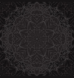 seamless texture with black carved pattern vector image vector image