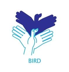 Shadow Hand Puppet Bird vector image vector image