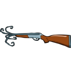 shotgun barrel with a torn vector image vector image