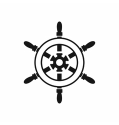 Wheel of ship icon simple style vector image