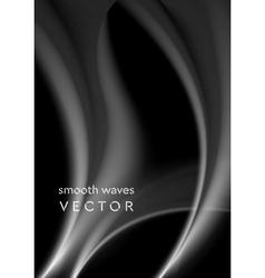 Elegant grey wavy smoke abstraction vector image