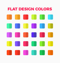 flat design colors set vector image vector image