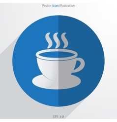 hot drink web flat icon vector image