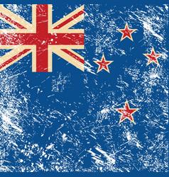 New Zealand retro flag vector image