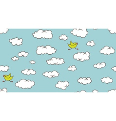 seamless clouds pattern vector image vector image