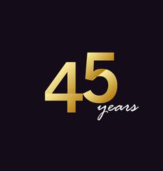 45 years anniversary celebration gradient vector