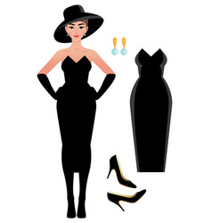 A french style audrey vector