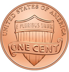 American one cent coin vector