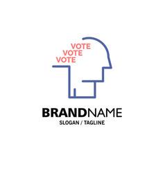 Ballot election poll referendum speech business vector