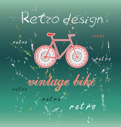 Bicycle on a green background vector image