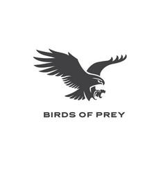 Bird prey logo vector