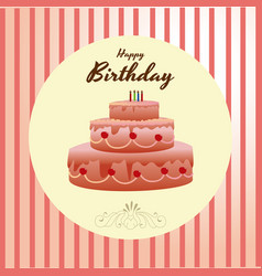 Birthday design over pink background vector