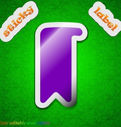 Bookmark icon sign Symbol chic colored sticky vector