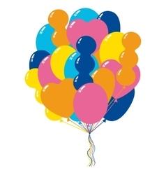 Bunch color balloons vector