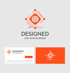 Business logo template for complex global vector