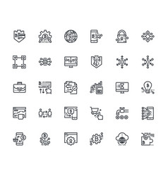 cryptocurrency icons set vector image