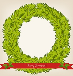 cute Christmas wreath vector image