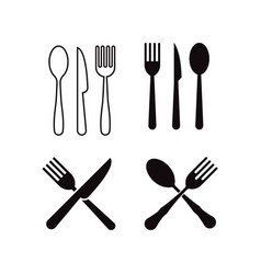 cutlery icon design template isolated vector image